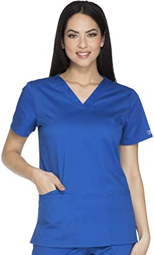 Cherokee Workwear Core Stretch V Neck Scrub Top L Royal product image