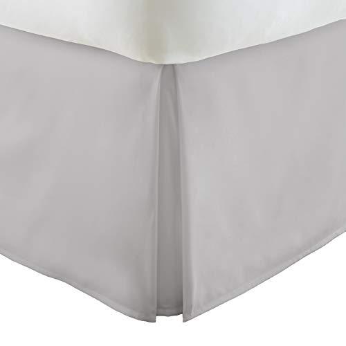 Linen Market Pleated Bed Skirt, Queen, Light Gray