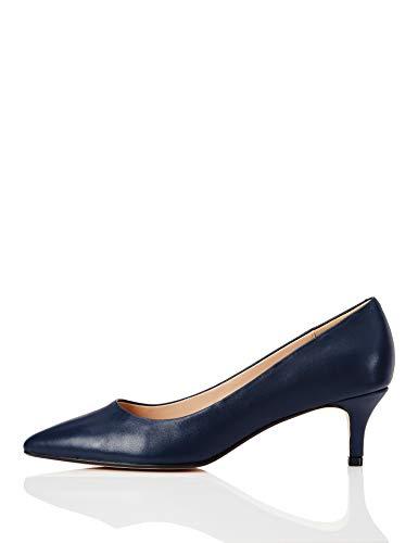 find. Connie Leather Tacones Cerrados, Azul Marino, 41 EU