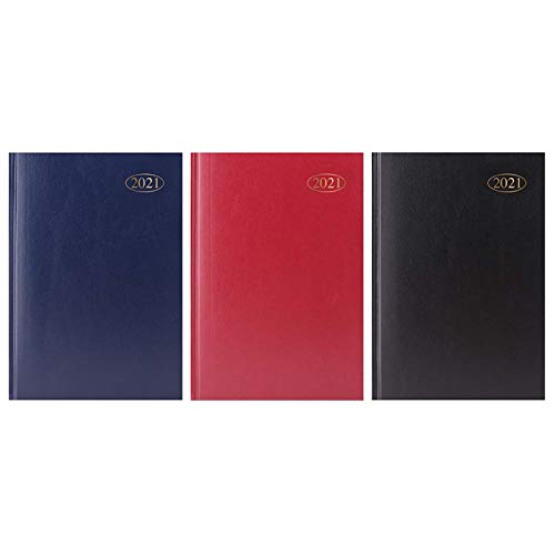 2021 A5 DAP Diary - Hardback DAP Diary with Full Page of Saturday & Sunday - Day A Page A5 Diary for Year Planner for Business, Office, Home, Appointments (Random Colour)