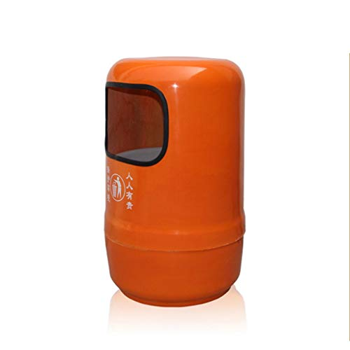 Papelera de basura al aire libre con tapa de cenicero, cubo de basura redondo con extraíble adecuado para dormitorio, cocina, jardín, parque de 60 litros (color: A)
