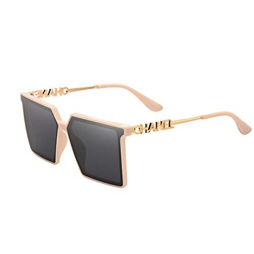 QAZW Gafas De Sol Polarizadas Rectangulares A La Moda Para Mujer, Gafas De Sol Cuadradas Para Hombre, Gafas De Sol Retro Para Hombre, Hierro Dm04-5