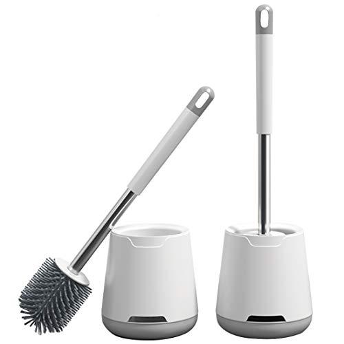 Aenamer Toilettenbürste, Silikon WC-Bürste und Halter mit Schnell Trocknendem Haltersatz, Wandmontage & Stehen 2er Set klobürste für Badezimmer