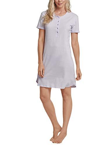 Schiesser Damen Sleepshirt 1/2 Arm, 90-100cm Nachthemd, Blau (Lavendel 809), 42