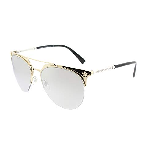 Versace Sunglasses Gold/Silver Metal - Non-Polarized - 57mm