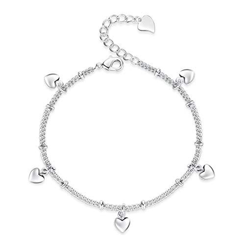 1 stuks armband dames zilver 925 modieus beker hart persoonlijke eenvoudige bedelarmband armband verjaardagscadeau voor vrouwen moeder dochter