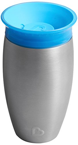 Munchkin Miracle 360 Degree Stainless Steel Sippy Cup, 10 oz/296 ml, Blue