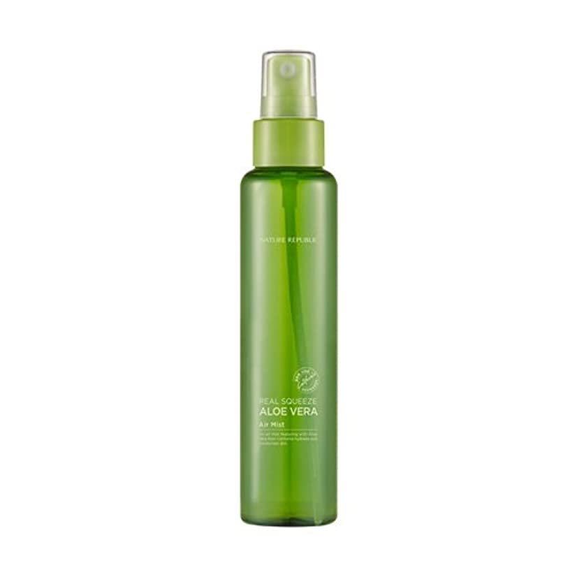 日焼け鳩部分的Nature Republic Real Squeeze Aloe Vera Air Mist 95ml / ネイチャーリパブリック リアルスクイーズアロエベラエアミスト 95ml [並行輸入品]