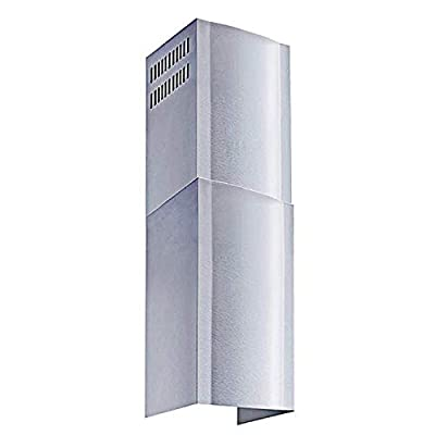 Winflo Stainless Steel Chimney Extension (up to 11ft. Ceiling) for Winflo Convertible Wall Mount Range Hood (upper and lower piece set)