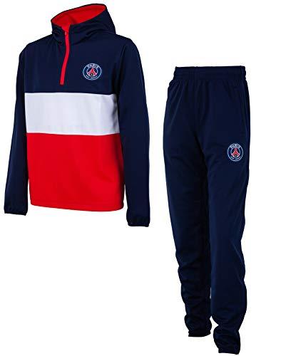 Paris Saint-Germain: chándal PSG, colección oficial del club de fútbol PARIS SAINT-GERMAIN, talla infantil, Niño, azul, 12 años