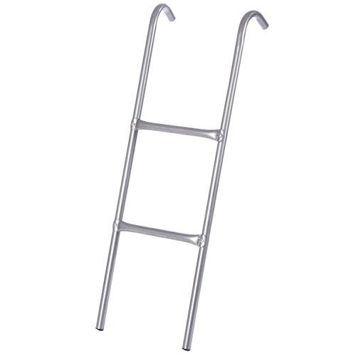Ultrasport Escalera para cama elástica, escalera estable para trampolín, 2 escalones, escalera de acero para colgar, accesorio para camas elásticas compatible con camas de Ø 305, 366 y 430 cm
