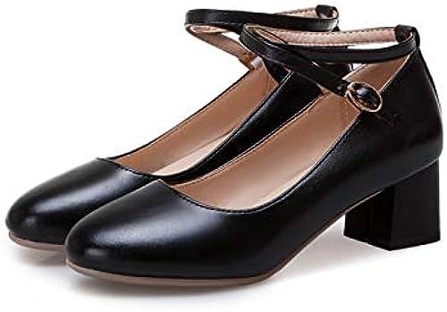 HommesGLTX Talon Aiguille Talons Hauts Sandales 2019 Nouvelle Arrivée Arrivée Femmes Pompes Bout Rond Printemps été Chaussures Ankle Strap Carré Talons Hauts Chaussures De Mariage Chaussures Femme  70% de réduction