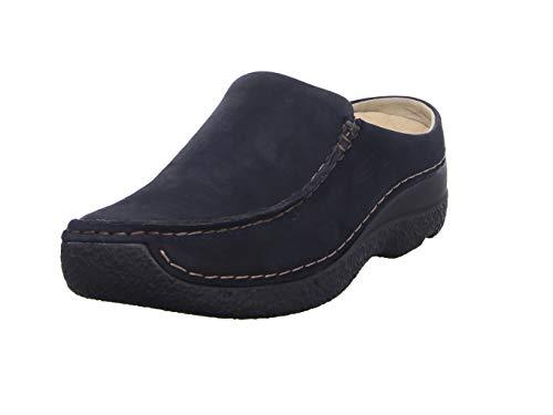 Wolky Comfort Clogs Seamy Slide - 16800 blau Nubukleder - 40