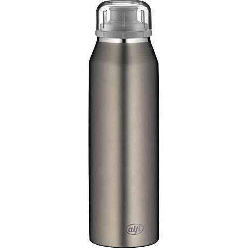alfi Trinkflasche 500ml, isoBottle, Thermosflasche, Edelstahl grau Isolierflasche auslaufsicher, Wasserflasche 5677.207.050, Thermoskanne 12 Stunden heiß, 24 Stunden kalt