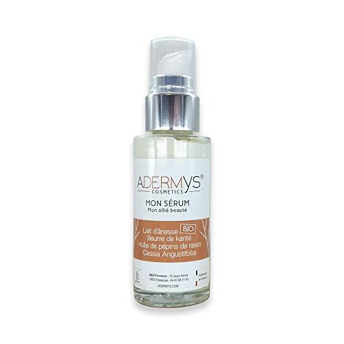 S&B Provence - Adermys® Cosmetics - Mon Sérum - Mon Allié Beauté - Sérum au Lait d'Ânesse Bio et Acide Hyaluronique Végétal - Fabriqué en Provence - Flacon Pompe Pot de 30 ml
