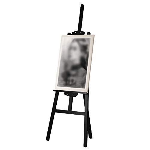 Caballete de pintura con tablero de dibujo de madera forjada, para regalo de fotos, caballetes de arte a granel para niños y adultos (color: blanco, tamaño: 1,5 m)