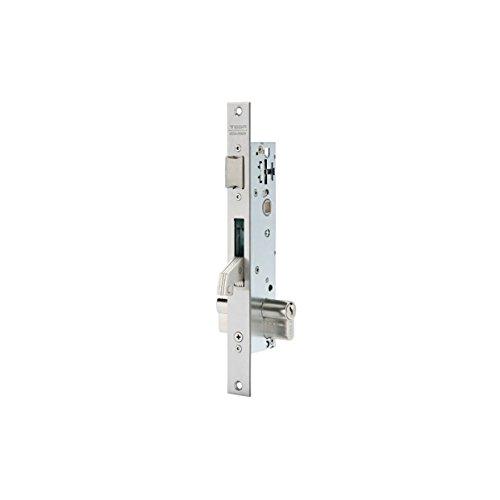 Tesa Assa Abloy 2240BE253SI Cerradura monopunto para perfiles métalicos, Acero Inoxidable