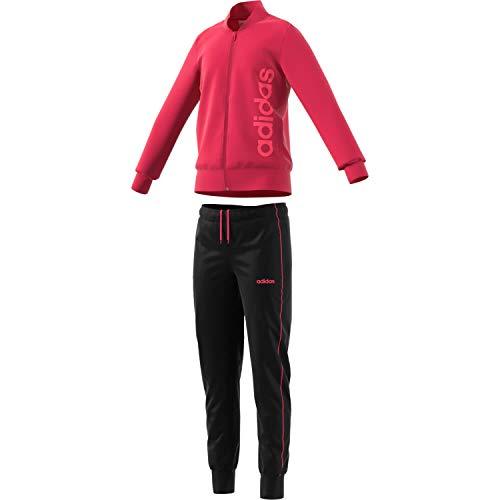 adidas Mädchen YG PES TS Trainingsanzug, Rot (Rosint/Rossen), 122 (6/7 años)