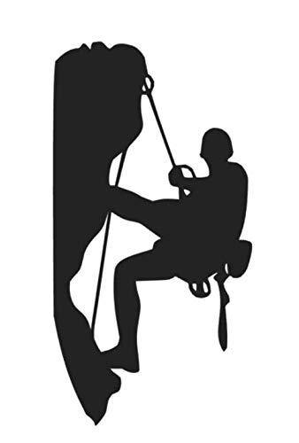 generisch Bergsteiger Aufkleber, in 15cm, 20cm oder 25cm Größe, Alpin Klettern Aufkleber Autoaufkleber (38/2) (schwarz Glanz, 20cm)