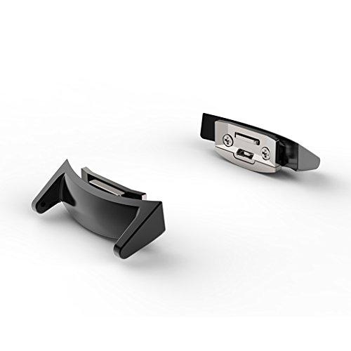 Almencla 1 UNID Metal Correa De Reloj Adaptador De Banda Conector 20mm para Samsung Gear S2 R720 - Negro