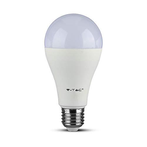 6 pezzi, Lampadine LED V-Tac E27, 17W (1521 lumen equivalenti a 100W), Forma: Bulbo, Luce Bianco Caldo, Naturale o Freddo + 1 Sdoppiatore Omaggio