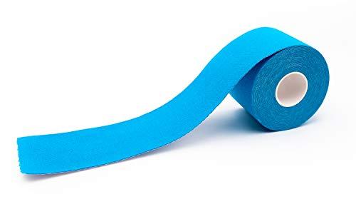 Cinta kinesiológica axion - color azul, resistente al agua, deportiva, adhesiva