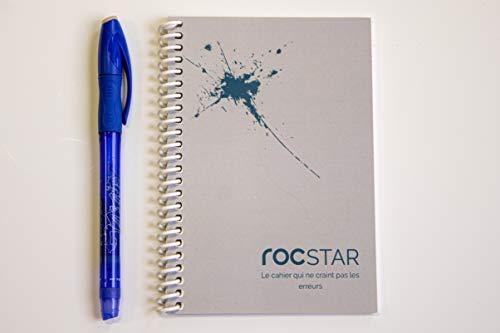 [RocStar] Radierbarer Notizbuch | Unendlich wiederverwendbar | Weich, widerstandsfähig und reißfest | Steinpapier | A6 Format