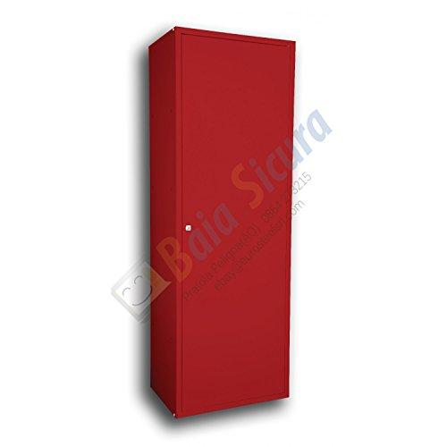 Baia Sicura Armadio Portascope Portadetersivi 180x60x40 Colorato Rosso