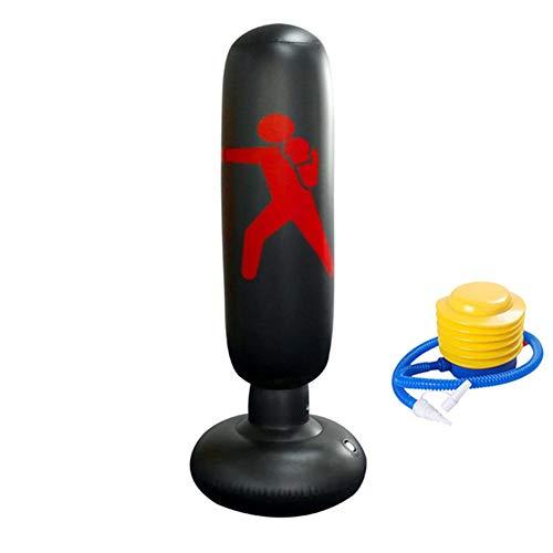 Standboxsack Punchingball Pounch Tasche Für Linderung Druck Schwere Tasche Boxen Schwere Boxsack Punch Tasche Kinder Freistehende Ziel Stehen Tumbler Black,160cm