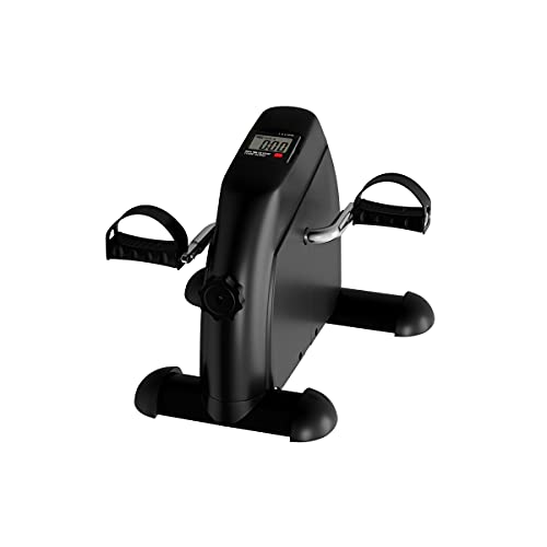 Portable Fitness Pedal Stationary Under Desk Indoor Exercise Machine Bike for Arms, Legs, Physical Therapy with LCD Display Calorie Counter by Wakeman