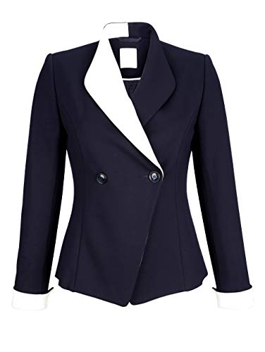 Alba Moda Damen Blazer Marineblau 44 Viskose