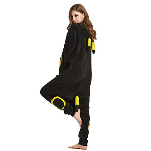 ZHHAOXINPA Pijamas de Umbreon Animal Trajes de Cosplay Adultos Unisex- Negro