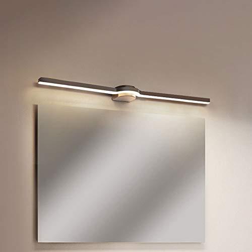 Siet Luz delantera del espejo LED 9W, lámpara de espejo de maquillaje, lámpara de pared de montaje en color de baño, accesorio de iluminación de la pared de metal para vestirse con baño, blanc