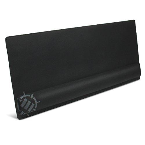 ENHANCE Extra Großes Gaming Mousepad mit Handauflage (31,5 x 13,78 x 1 Zoll) - Tastatur Handballenauflage Anti-Fray Stitching & Premium Soft-Tracking-Mouse Pad Oberfläche, Schwarz