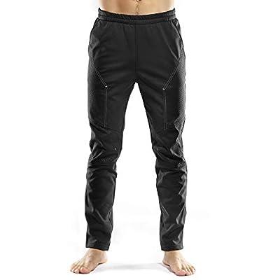 INBIKE Cycling Running Pants Jogger Winter Windproof Long Straight Sweat Pants Black Large TJ