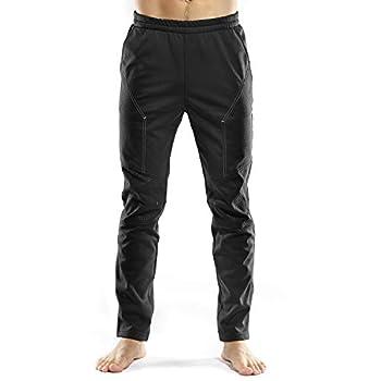 INBIKE Cycling Running Pants Jogger Winter Windproof Long Straight Sweat Pants Black Medium TJ