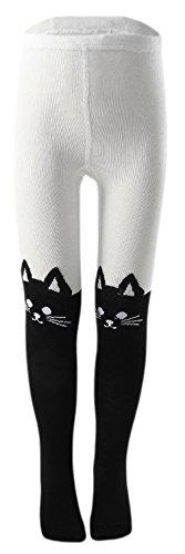 EOZY-Collant Bambina Calzamaglia Ragazza Leggings Fumetto Invernali Calze Gatto per Altezza 90-100cm