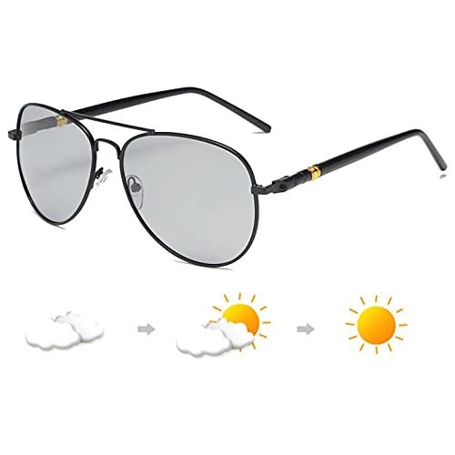 Giftik UV400 Gafas de sol polarizadas para hombres y mujeres al aire libre deportes pesca ciclismo conducción running, Marco gris,