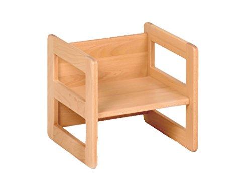 werkstatt-design Kindermöbel Wendehocker Holz, praktischer Kinderhocker der mitwächst, Buche