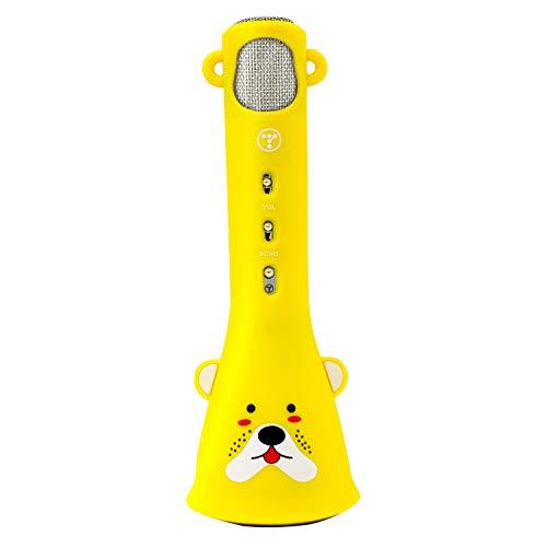 TOSING Karaoke-microfoon voor kinderen draadloze microfoon Singing Machine compatibel met iPhone/iPad/Android smartphone, het beste cadeau voor jongens en meisjes verjaardag citroengeel