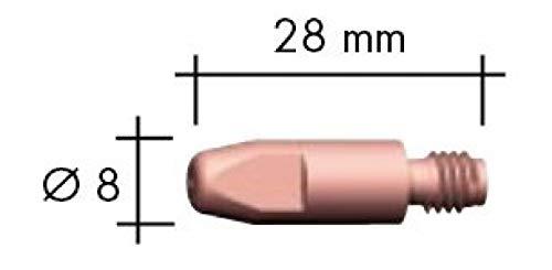 Abicor Binzel Stromdüse M6 x 28 E-Cu 0,8 mm 140.0051 MIG/MAG Brenner + Ersatzteile Stromdüsen
