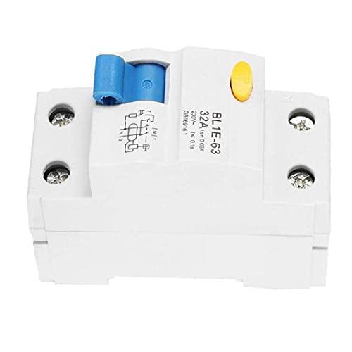Dispositivo de corriente de circuito actual Protección de fugas Dispositivo de corriente residual Dispositivo de doble polo Breaker 230V 32A, interruptor de aire