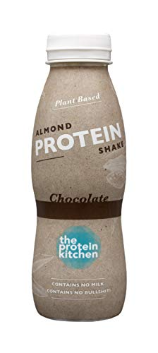 The Protein Kitchen 100% Plant Based Almond Protein Shake (Chocolate) - Ready to Drink - (Pack of 12 x 330ml) - No Artificial Flavour, Sweetener or Color - Great Taste
