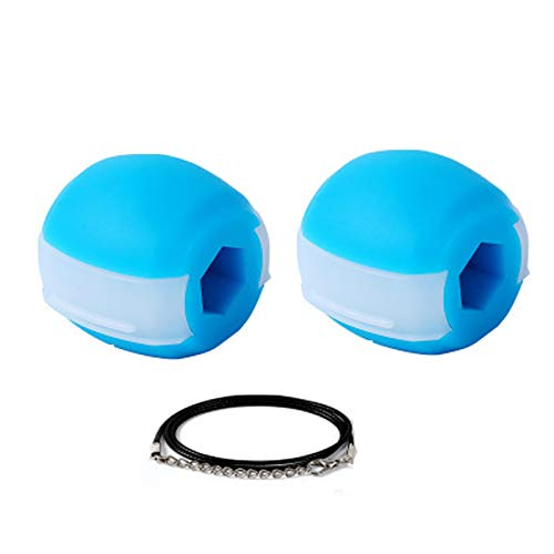 VNNV Face and Neck Exercise Ball Jawline Beauty Tool Face Lifter Jawline Shaper Facial Exerciser Ball,Tightens Skin Under The Chin To Slimmer Face,durable Healthy blue