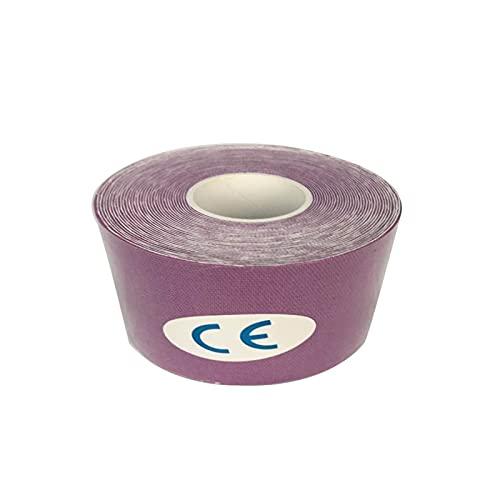 WEARRR Recuperación atlética Médico Auto Adhesivo Elástico Vendaje Músculo Painaje Apoyo Fitness para Deportes (Color : Purple, Size : 5cmx5m)