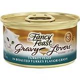Fancy Feast Gravy Lovers Turkey Feast in Roasted Turkey Flavor Gravy Cat Food, 3 oz, 12 Cans