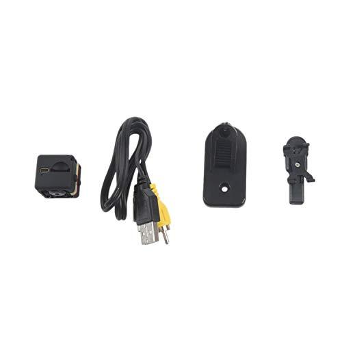 Fransande - Cámara de visión nocturna 1080P HD, cámara de vídeo portátil, minúscula con visión nocturna, cámara de seguridad de detección de movimiento para grabar vídeo DV