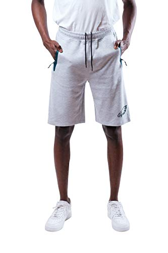 Ultra Game NFL Philadelphia Eagles Mens Active Gym Shorts with Zipper Pockets, Team Color, Medium