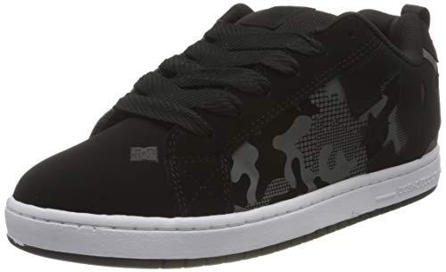 DC Shoes Court Graffik, Zapato de Skate Hombre, Black/Camo Print, 43 EU