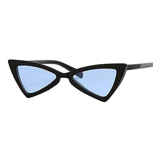 DLSM Gafas de Sol para Mujer Gafas de Sol de Estilo Gato para Mujer de Lente con Espejo Vintage Adecuado para Montar a Caballo, Pesca y Golf-Azul Negro